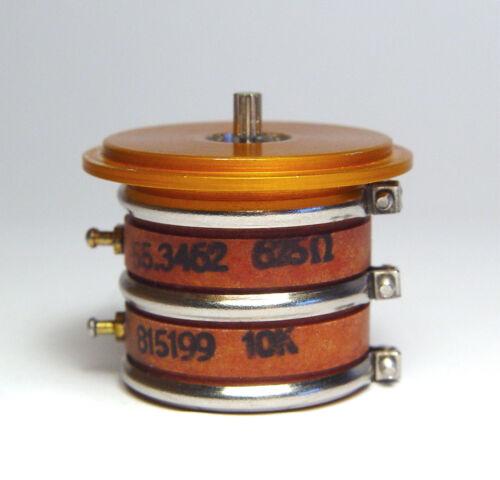 NOS 625 Ohm Modulare Doppio Infinito-servo-potenziometro 10 K