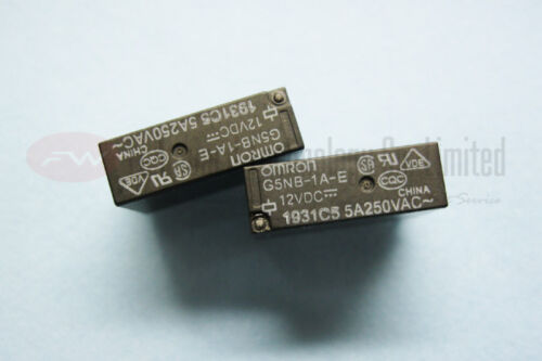 G5NB-1A-E-DC12 G5NB-1A-E 12VDC POWER RELAY 5A 250VAC 4 Pins x 10pcs