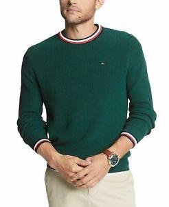 Tommy-Hilfiger-Men-039-s-Geneva-Tipped-Ribbed-Knit-Sweater-Botanical-Garden-L-XL-2XL