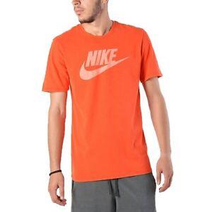 f26d4925 Nike Tee Athletic Cut Sportswear Men's Orange T-Shirt (AH3923-634 ...