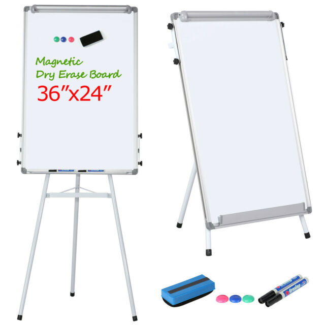 Whiteboard Double Side U-Stand Magnetic Dry Erase 360° Rotate Flipchart 36*24
