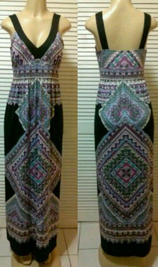 NEW  INC NEW Purple Matte Jersey Sleeveless Full-Length Maxi Dress Size XS, M