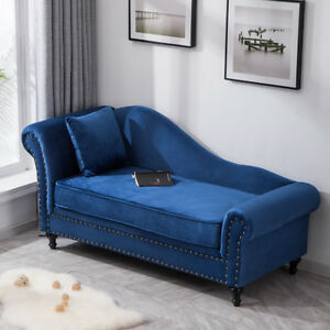 Super Details About Retro Studded Tuffed Chaise Longue Lounge Sofa Bed 2 Seater Chair Velvet Fabric Uwap Interior Chair Design Uwaporg