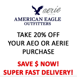 American Eagle Coupon 20% OFF : In-store/Onlin