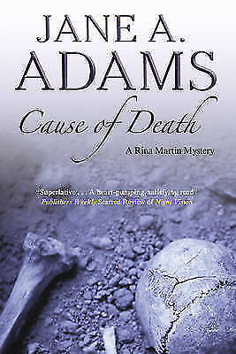 1 of 1 - Cause of Death (Rina Martin Mystery), Adams, Jane A., New Book
