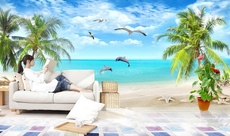 3D 3D 3D Muschelstrand 954 Tapete Wandgemälde Tapete Tapeten Bild Familie DE Summer  | Ideales Geschenk für alle Gelegenheiten  | Bekannt für seine gute Qualität  | Das hochwertigste Material  c0db53