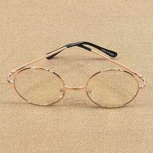 ce6ebfbf22 Women s Clear Lens Retro Round Circle Eye Glasses Metal Frame Small ...