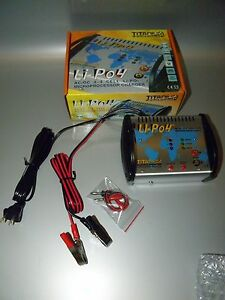 TITANIUM Li-Po 4 MICROPROCESSOR BATTERY CHARGER AC/DC 2-4 CELL  NEW