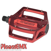 Haro Fusion Bmx Pedals 9/16 Red For 3-piece Cranks Shimano Dx Style 2015