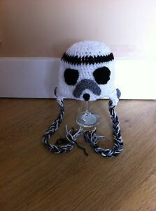 crochet storm trooper star wars hat from 0 to adult photo props fancy costume