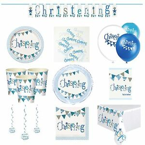 Image is loading Blue-On-Your-Christening-Party-Tableware -Decorations-Supplies-  sc 1 st  eBay & Blue On Your Christening Party Tableware Decorations Supplies Baby ...