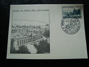 FRANCE-carte-8-3-1952-journee-du-timbre-aix-les-bains-cy10-A