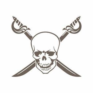 2x e 2x Grande Piccolo Teschio Pirata adesivi Il Venditore Regno Unito