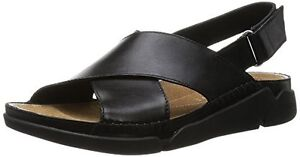 fc176608074 Image is loading Clarks-Womens-Tri-Alexia-Casual-Black-Leather-Sports-