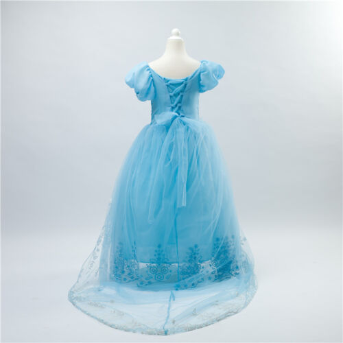 Girl Princess Cinderella Dress Kid Party Wedding Bridesmaid Gown Dresses K68