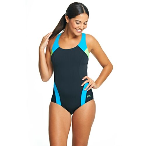 Zoggs Miami Racer Back Swimming Costume Size 8 10 RRP £38 Sporty Fitness