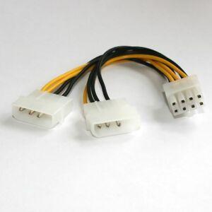 8pin-PCIe-PCI-E-Express-Strom-Adapter-Grafikkarte-8-pol-2x-Molex-Stecker-ATX