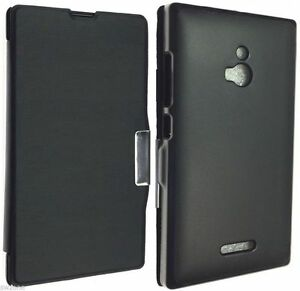 new concept cca43 21bf6 Details about Nokia XL Dual SIM RM 1030 1042 LEATHER CASE LUXURY POUCH  COVER SKIN BACK WALLET