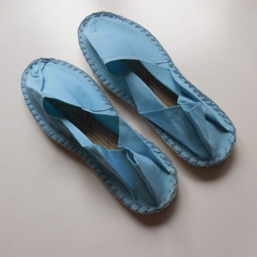 Details about  /Sandals Flat Woman Stitched Hand French Soule Craft Mauléon France N4059