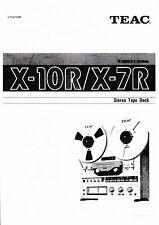Owner's Manual  für Teac X-10R,X-7R