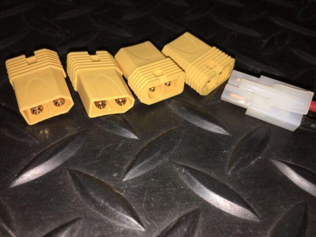 4 Male XT60 XT-60 to Tamiya Female Single Piece Turnigy Lipo Battery Adapter