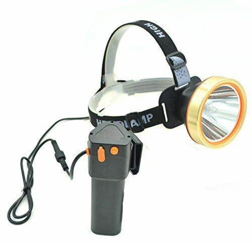 Waterproof & Rechargeable LED Headlight w  External Battery for Mining & More
