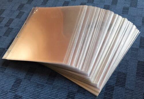 100 Stück Klarsichthülle Prospekthülle Dokumentenhülle DIN A 4 gelocht stabil