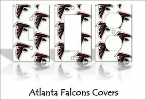 newest 64c26 70ed5 Details about Atlanta Falcons Light Switch Covers Football NFL Home Decor  Outlet