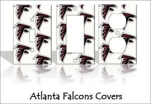 ATLANTA FALCONS FOOTBALL TEAM DUPLEX OUTLET COVER WALL PLATE BOYS ROOM ART DECOR