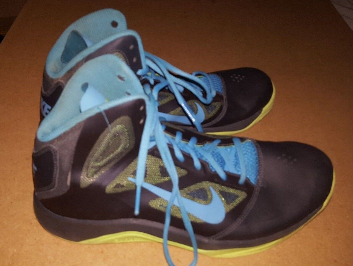 Men's Nike Dual Fusion Running /Basketball Shoes Black Blue Comfortable