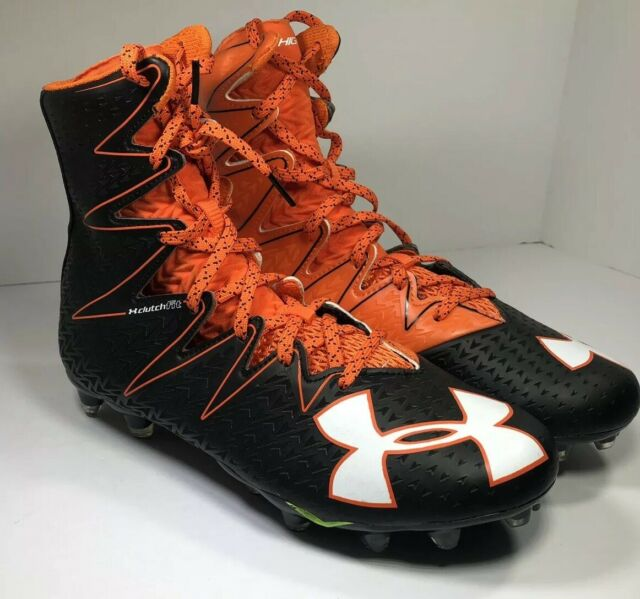 UNDER ARMOUR ORANGE FOOTBALL CLEATS SIZE 9