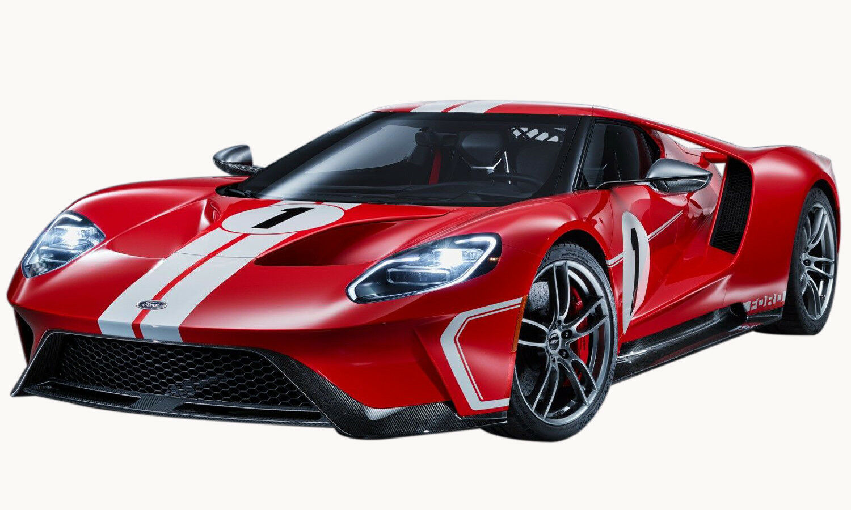 Ford GT 2018 Heritage Edition röd