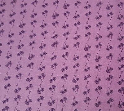Revved Up Retro Sarah J Maxwell Marcus Brothers BTY Purple Green Floral Feedsack