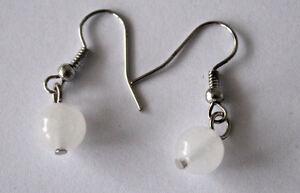 Fashion-Jewellery-Women-039-s-Girl-039-s-Long-Ear-Pendants-Ohrpin-Earrings-Milky-Jade
