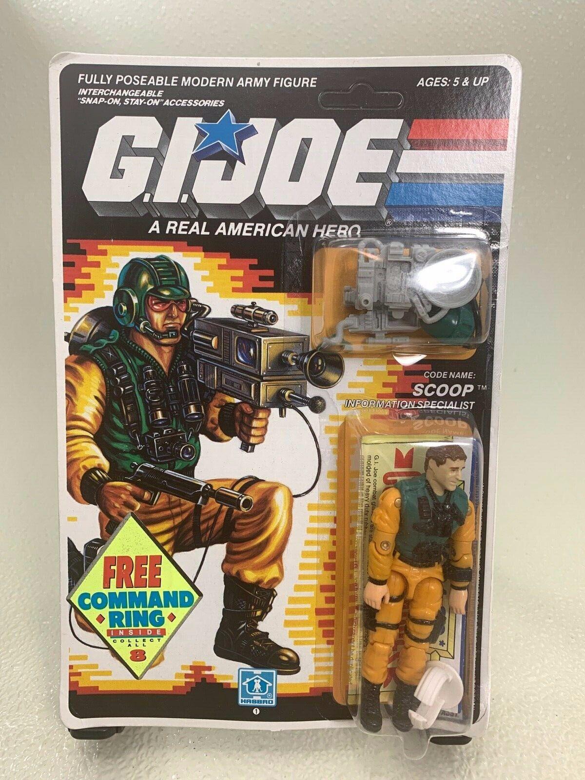 Cuchara ENLOMADOR Gi Joe Figura De Acción 1989 si usar En Blister Hasbro seperti con anillo de comando
