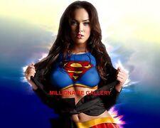 Megan Fox 8x10 Photo - Bodypaint Superwoman Nipples Sexy Photograph