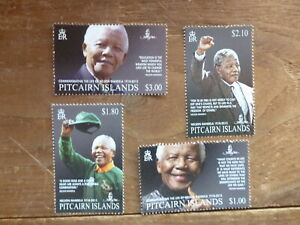 PITCAIRN-Is-2014-NELSON-MANDELA-SET-4-MINT-STAMPS