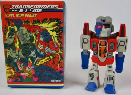 "Joe vs Transformers Starscream 3/"" VINYL Figure 2//24 rareté Kidrobot G.I"