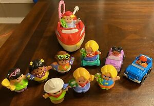 Fisher Price Little People Vintage Lot Of 10 Figures Aloha Freddie and The Frog