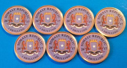 Somalia Ancient Sailing Ship 2017 Set UNC unusual coinage