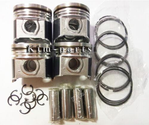 Clip /& Pin 1G924-2111 with Rings 4 Pcs Kubota V2403 Engine STD Piston
