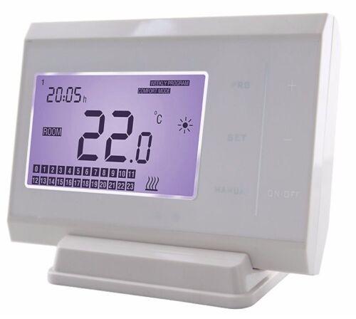 TERMOSTATO ambiente della caldaia wireless con touch screen digitale LCD Pulsanti Nuovo di Zecca