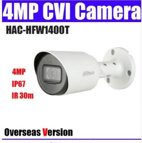 Dahua HAC-HFW1400T 4MP HDCVI IR Bullet Camera IR30M IP67 3.6mm DC12V