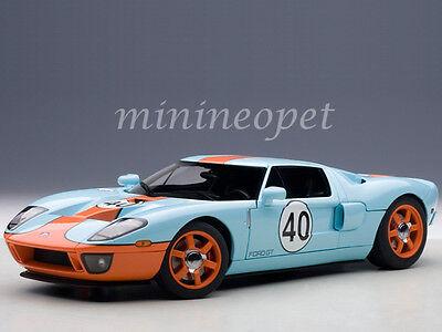 AUTOart 80513 2004 FORD GT #40 GULF RACING COLORS 1/18 DIECAST MODEL BLUE ORANGE