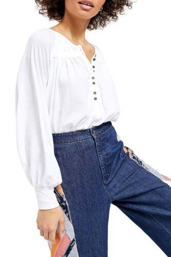 Free People Femme Prairie OB1047792 Haut Décontracté Blanc Taille XS