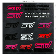STI Reflective Car Sticker Door Windshield Window Vinyl Decal Set for Subaru STi