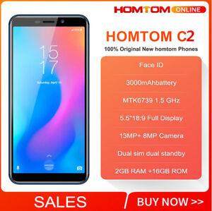 Nero-3000mAh-5-5-039-039-HOMTOM-C2-Cellulare-FACE-ID-TOUCH-ID-Lte-4G-Smartphone-NUOVO