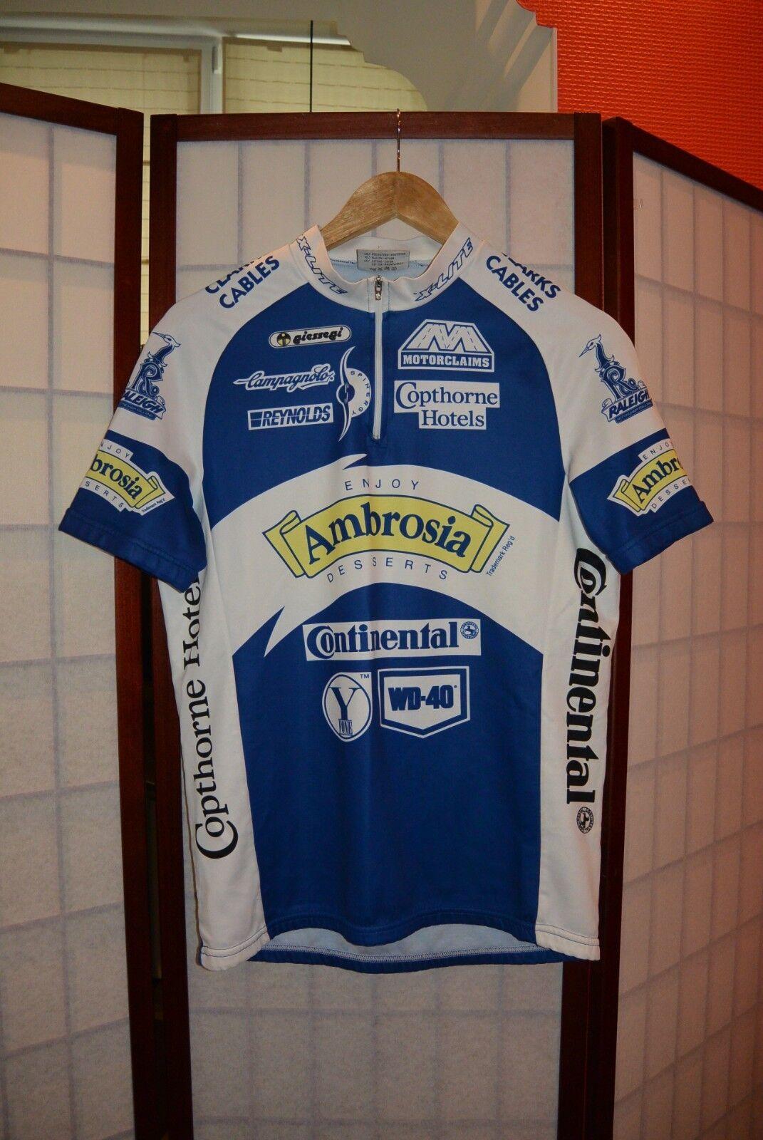 Ambrosia giessegi campagnolo old retro cycling jersey L (Iev)