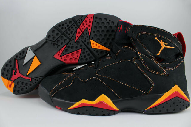 official photos afc67 1157c AIR JORDAN 7 VII RETRO BLACK CITRUS RED AUTHENTIC DS RARE 2006 US MENS