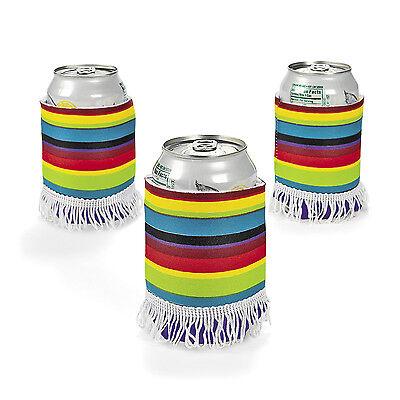 6pc Fiesta Cinco De Mayo Mariachi PONCHO BEER SODA CAN KOOZIES COOZIES coolies